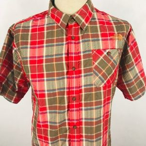 The North Face XL Short Sleeve Plaid Button Front